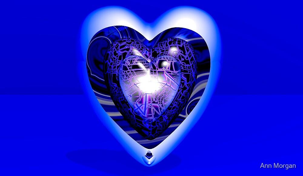 Heart Infinity Blue by Ann Morgan