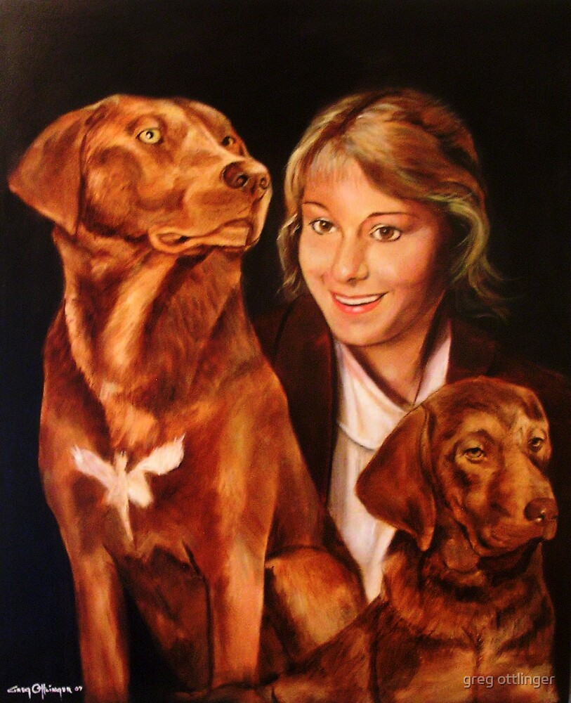 Shannon and the dogs by greg ottlinger