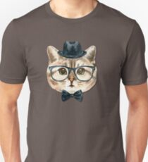 Mr. Chic Kitty: Cat in a Bowtie, Top Hat & Glasses T-Shirt