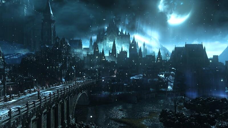 町と橋のダークソウルのゲーム画面