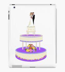 A Wedding Cake in Primary Colors plus Purple iPad Case/Skin