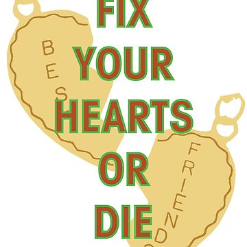 Fix Your Hearts Or Die (Necklace) by GwoodDesign