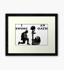 Soldier's Cross Framed Print