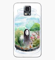 Kein Gesicht in einem Glas Hülle & Klebefolie für Samsung Galaxy