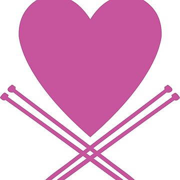 For the love of knitting - knitting needles and heart - yarn addict by CorrieJacobs
