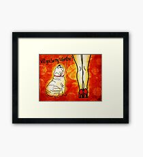 Will you be my Valentine ? Framed Print