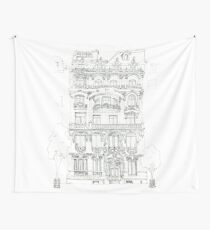 The face of Paris Wall Tapestry