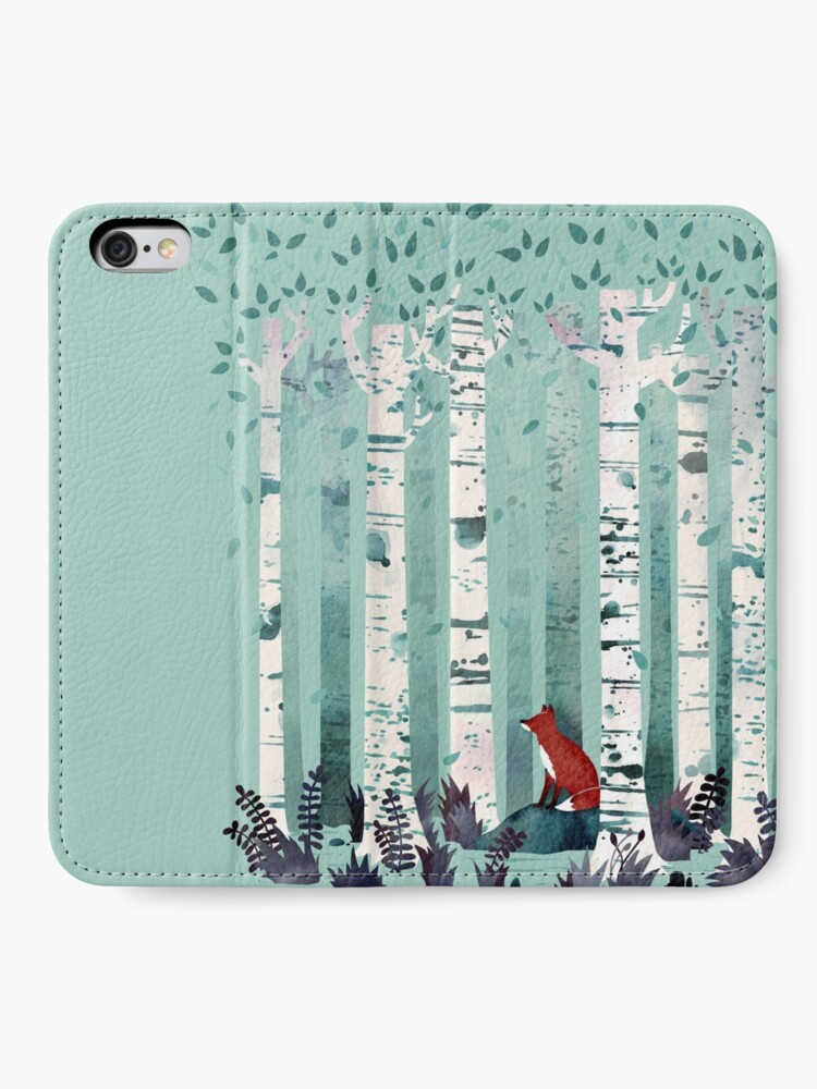 Alternate view of The Birches iPhone Wallet