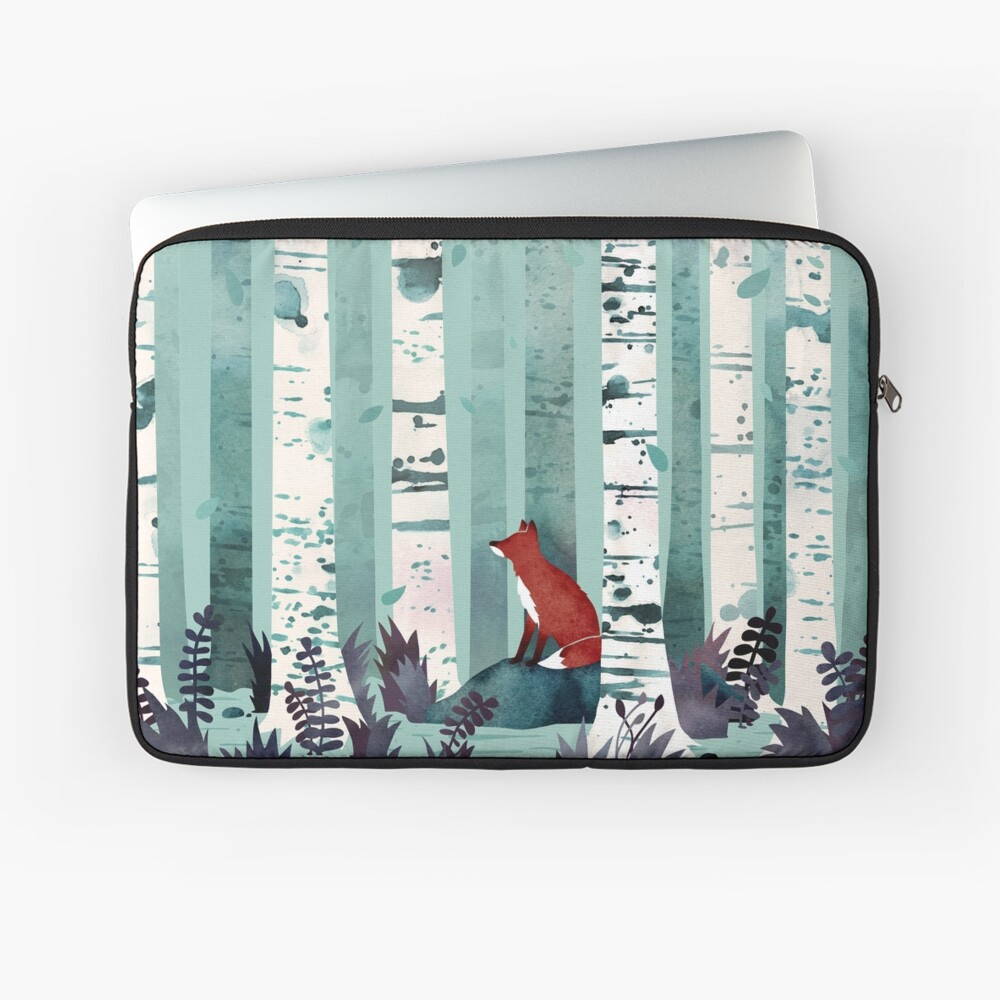 The Birches Laptop Sleeve Front