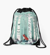 The Birches Drawstring Bag