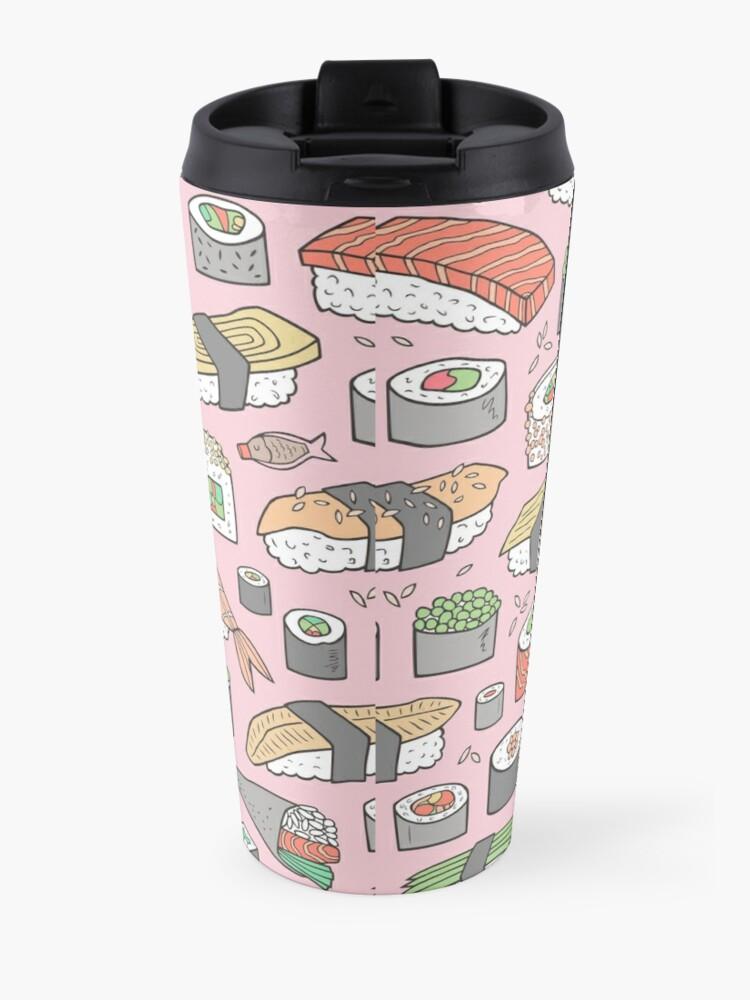 Alternate view of Sushi on Pink Travel Mug