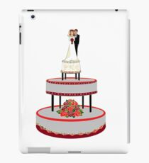 A Wedding Cake in Red and Black tones iPad Case/Skin