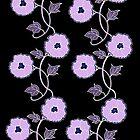 Flower Trail - Purple by Linda Callaghan