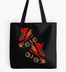 Cool golden roller skates Roller Derby Tote Bag
