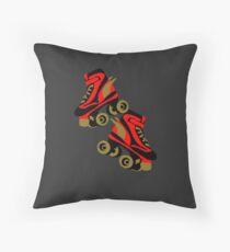 Cool golden roller skates Roller Derby Floor Pillow