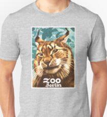 1930 Ludwig Hohlwein Berlin Zoo Lynx Poster T-Shirt