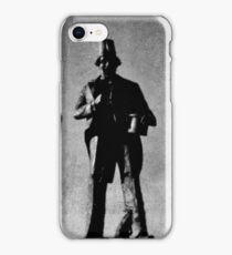 Tommy Coopers Statue in Caerphilly iPhone Case/Skin