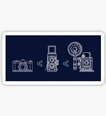Film Photography 35mm < Medium Format < Large Format Sticker
