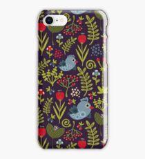 Folk birds iPhone Case/Skin