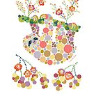 Cute Sloth Pretty Colorful Circles Dots Bubbles Graphic Design by DoubleBrush