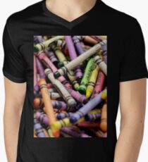 Crayons and Depth of Field Yum Men's V-Neck T-Shirt
