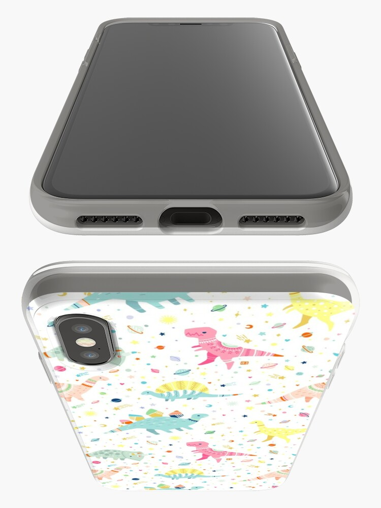 Alternate view of Dinosaur Pattern iPhone Case & Cover