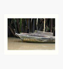 Mekong Boat Art Print