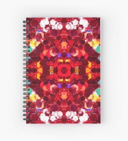 Red abstract mosaic shiny glitter pattern Mandala Spiral Notebook