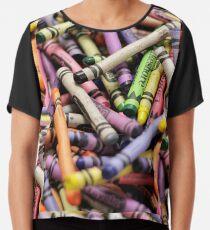 Crayons and Depth of Field Yum Chiffon Top