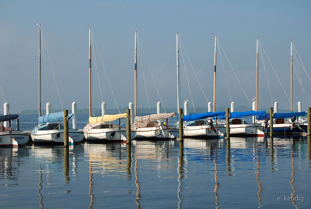 Pretty Boats All in a Row by e. kendig
