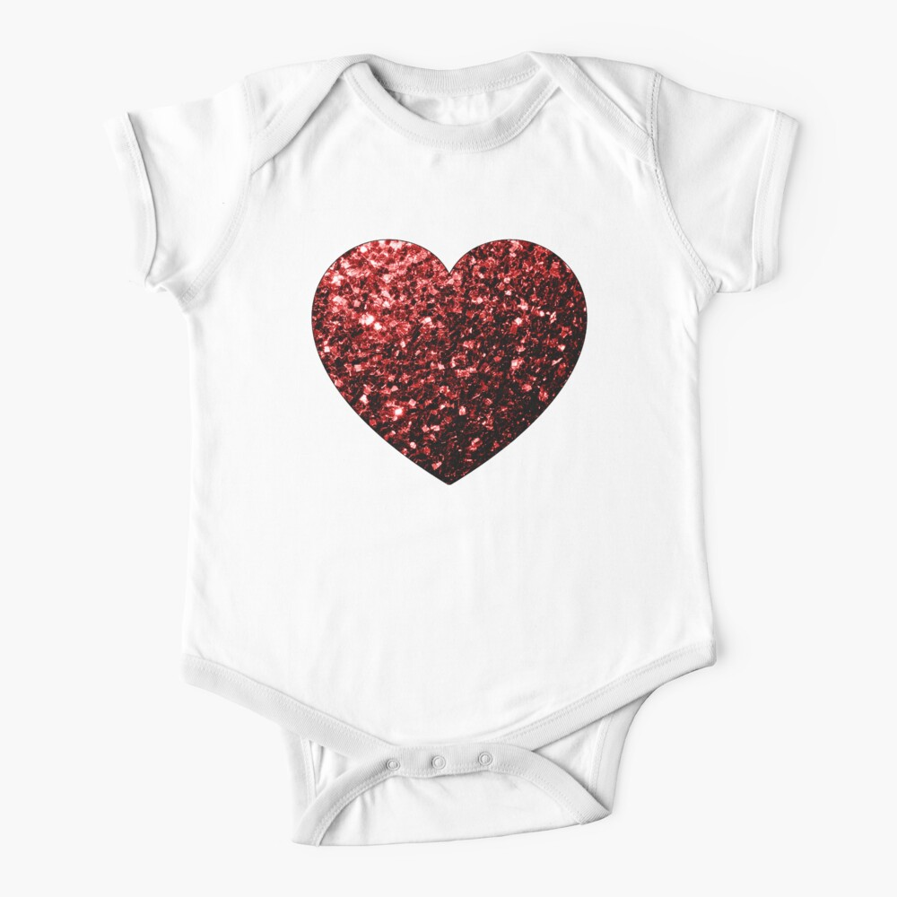Glamour hermoso brillo rojo brilla Body para bebé