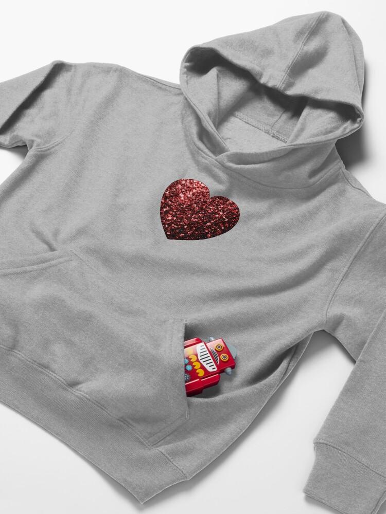 Vista alternativa de Sudadera con capucha para niños Glamour hermoso brillo rojo brilla