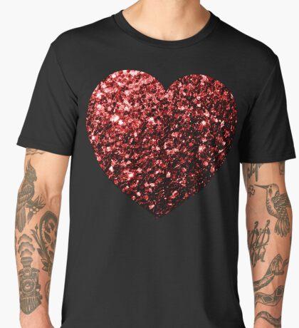 Beautiful Glamour Red Glitter sparkles Men's Premium T-Shirt
