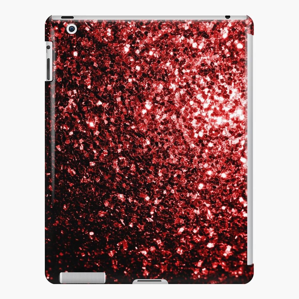 Glamour hermoso brillo rojo brilla Funda y vinilo para iPad