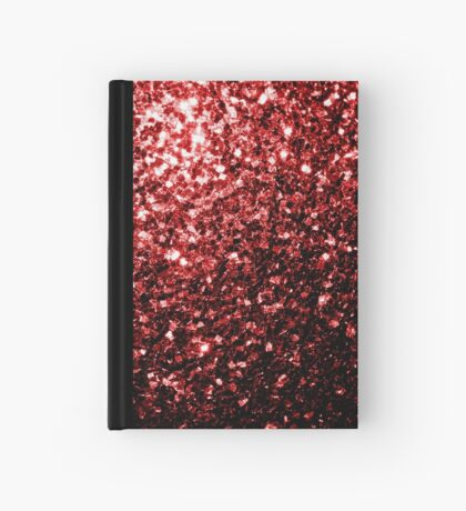 Beautiful Glamour Red Glitter sparkles Hardcover Journal