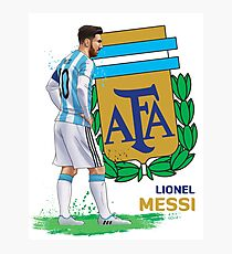 LM - Argentina - World Cup Photographic Print