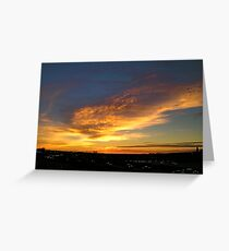 Early traffic sunrise. Greeting Card
