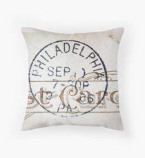 Philadelphia Pride 1906 Postmark Throw Pillow