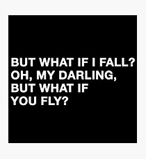 What if you fly | Peter Pan | Movie Quote Photographic Print