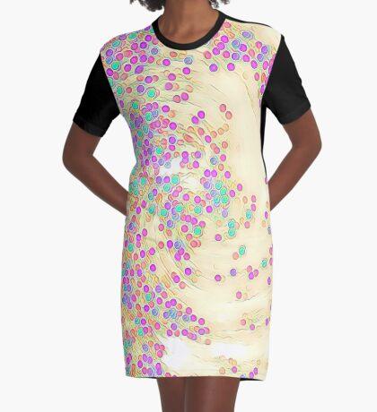 Color Wave Graphic T-Shirt Dress