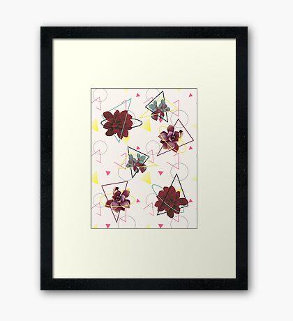 Spatial Succulents #redbubble #decor #buyart Framed Print