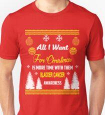 Support Bladder Cancer Awareness Christmas Design T-Shirt