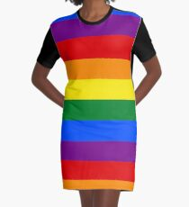 Gay Pride Rainbow Flag Graphic T-Shirt Dress