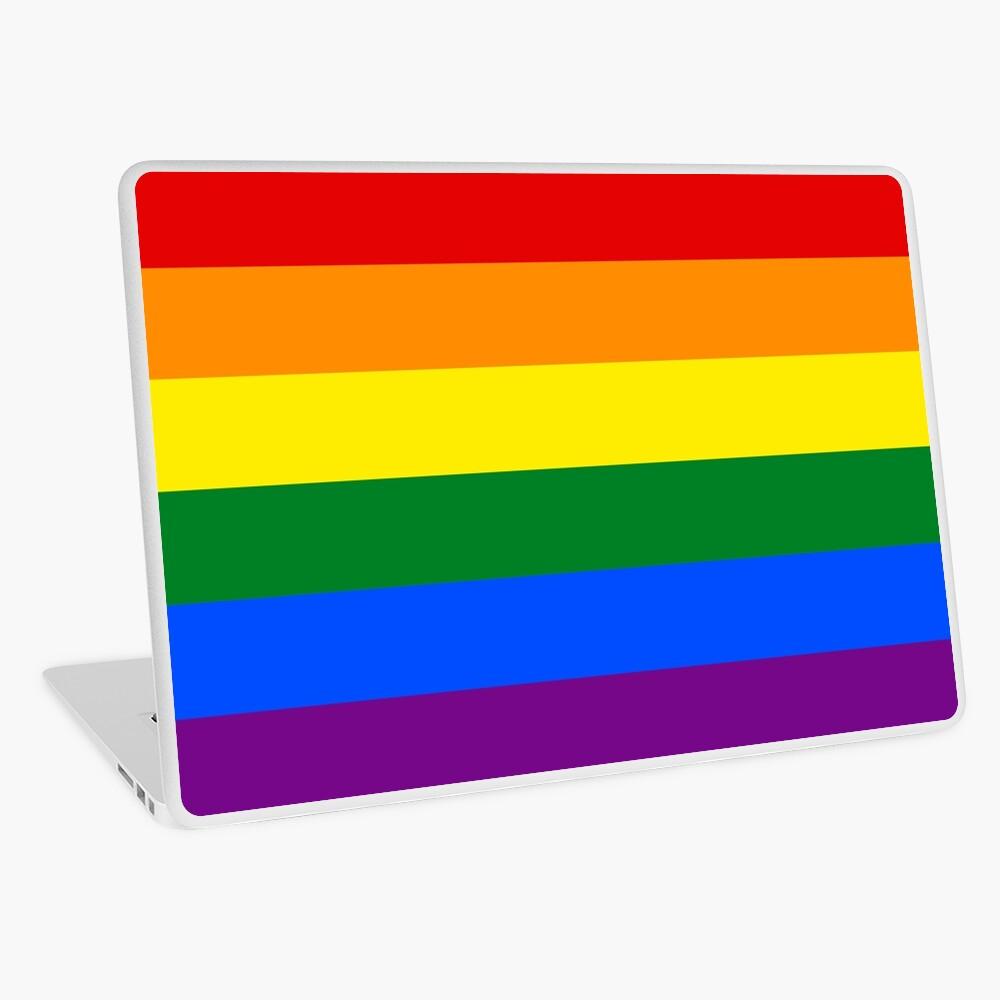 Gay Pride Regenbogenfahne Laptop Folie