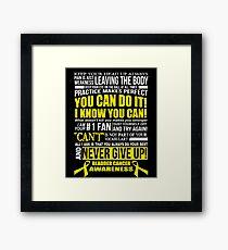 Support Bladder Cancer Awareness Design Framed Print