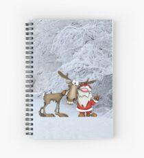 Cuaderno de espiral Santa y renos