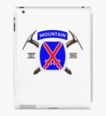 10th Mountain Division - EST 1943 iPad Case/Skin