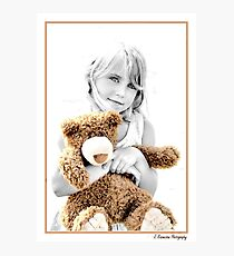 Me & My Teddie Photographic Print