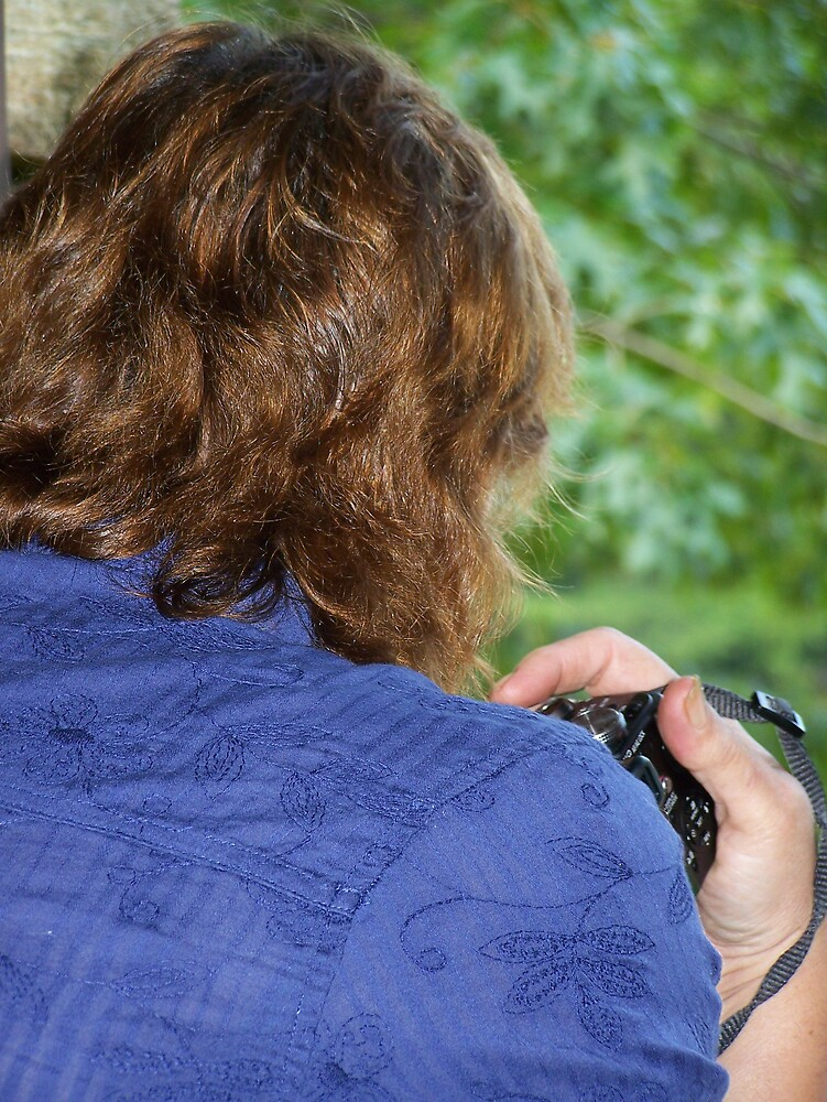 Mom and her camera by Rae Ann Johnson