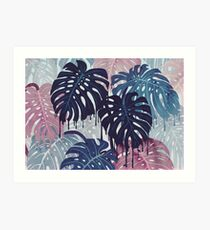 Monstera Melt Art Print